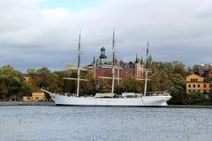 Af Chapman Sailboat in Stockholm, Schweden lizenzfreies stockfoto