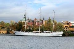 Af Chapman Sailboat in Stockholm, Schweden stockfotos