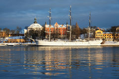 The af Chapman Ship in Stockholm Royalty Free Stock Photo