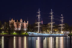 Af Chapman (ship) in Stockholm Royalty Free Stock Photography