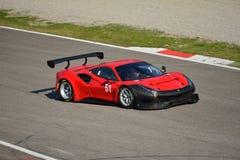 AF Corse Ferrari 488 GT3 in Monza Lizenzfreie Stockfotografie