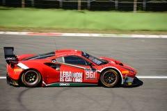 AF Corse Ferrari 488 GT3 przy Monza Zdjęcia Royalty Free