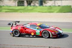 AF Corse Ferrari 488 GTE przy Monza Zdjęcia Royalty Free