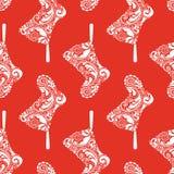 Af:drukken. Het naadloze patroon van Kerstmis. Royalty-vrije Stock Afbeeldingen