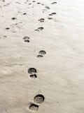 Af:drukken op het zand Royalty-vrije Stock Afbeeldingen