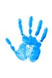 Af:drukken van geïsoleerdee hand stock afbeeldingen