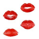 Af:drukken van lippenstift Royalty-vrije Stock Foto