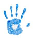 Af:drukken van menselijke hand op papier. Royalty-vrije Stock Afbeelding