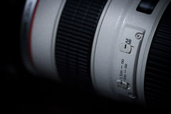 AF/MF switch of telephoto lens stock photos