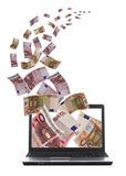 Af van de partij geld dat wegvliegt Stock Fotografie