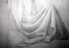 aFabric académico desenhando um drapery Foto de Stock Royalty Free
