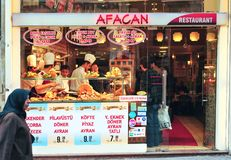 Afacan restaurant from Istanbul, Turkey. Afacan is a restaurant situated in Beyoglu, Istanbul, Turkey royalty free stock photography