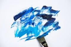 Afaga máscaras azuis da pintura de óleo em um fundo branco Foto de Stock Royalty Free