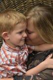 Afago com baby-sitter do dia Imagem de Stock Royalty Free