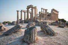 Afaia-Tempel, Aegina, Saronic-Golf, Griechenland Lizenzfreie Stockfotografie