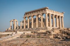 Afaia-Tempel, Aegina, Saronic-Golf, Griechenland Lizenzfreies Stockfoto