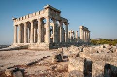 Afaia-Tempel, Aegina, Saronic-Golf, Griechenland Lizenzfreies Stockbild