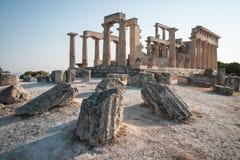 Afaia-Tempel, Aegina, Saronic-Golf, Griechenland Stockfotografie