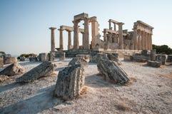 Afaia-Tempel, Aegina, Saronic-Golf, Griechenland Lizenzfreie Stockbilder
