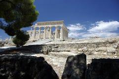 afaiagreece tempel Fotografering för Bildbyråer