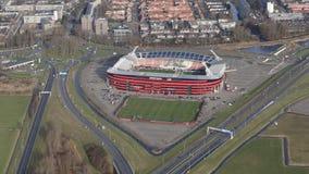 AFAS-fotbollsarena för AZ Alkmaar Arkivbild