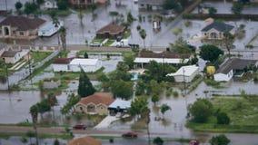 Afbeelding van overstroming na een orkaan stock footage