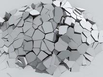 Afbrokkelende concrete muur Stock Foto's