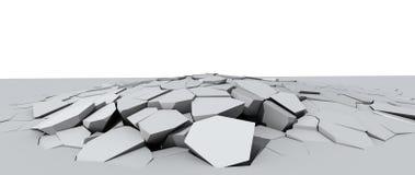 Afbrokkelende concrete vloer Royalty-vrije Stock Afbeelding