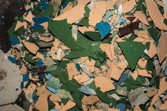 Afbrokkelende muur Stock Afbeeldingen