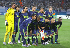 AFC Ajax team pose for a group photo Stock Photography