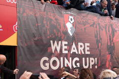 Afc Bournemouth Promotion and Champions. Parade of AFC Bournemouth Promotion to premier league and Championship title Royalty Free Stock Photography