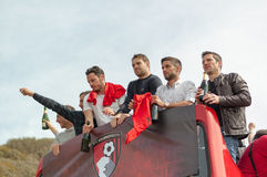 Afc Bournemouth Promotion and Champions Royalty Free Stock Photos