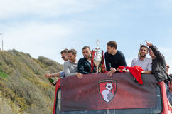 Afc Bournemouth Promotion and Champions Stock Photo