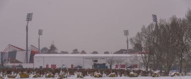 AFC Bournemouth Stadion in sneeuw Stock Foto