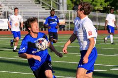 AFC Cleveland Royals game action Royalty Free Stock Images