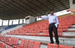 Afc-Stadionsüberprüfung Stockfotos