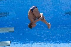 Afd.: De de duikconcurrentie van definitieve 3m mensen Stock Afbeelding