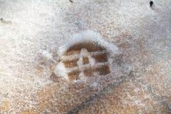 Afdrukschoenen op losse sneeuw royalty-vrije illustratie