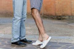 afecto entre dos hombres Foto de archivo libre de regalías