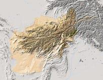 Afeganistão, mapa de relevo protegido Ilustração Royalty Free