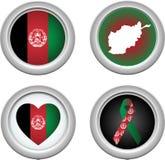 afeghanistan кнопки Стоковые Фотографии RF