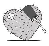 Afeitado del corazón Foto de archivo