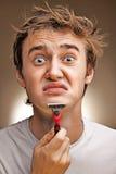Afeitados del hombre Foto de archivo libre de regalías
