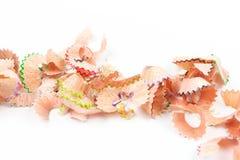 Afeitados del lápiz del color Fotos de archivo libres de regalías