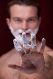 Afeitar al hombre Imágenes de archivo libres de regalías