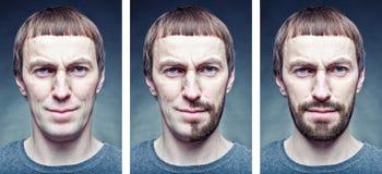 Afeitar la cara Imagen de archivo libre de regalías