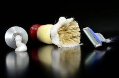 Afeitar los accesorios Imagen de archivo