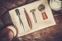 Afeitar los accesorios fotografía de archivo