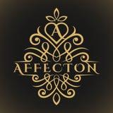 Afekcja jest Klasycznym Luksusowym Uroczym listem logo ilustracja wektor