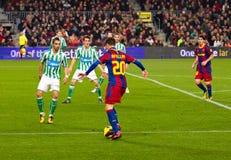 Afellay in der Tätigkeit (FC Barcelona) Stockfoto